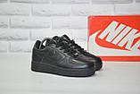 Чорні низькі шкіряні кросівки в стилі Nike air force(розміри в наявності:38-40), фото 2