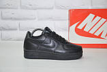 Чорні низькі шкіряні кросівки в стилі Nike air force(розміри в наявності:38-40), фото 3