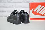 Чорні низькі шкіряні кросівки в стилі Nike air force(розміри в наявності:38-40), фото 4