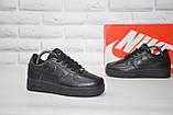 Чорні низькі шкіряні кросівки в стилі Nike air force(розміри в наявності:38-40), фото 5