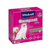 Комкующийся наполнитель для котов из бентонитовой глины Vitakraft Compact Ultra Classic (8 кг.)