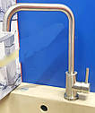 Высокий смеситель для кухни из нержавеющей стали на мойку HAIBA SUS 011-G (HB3895), фото 2