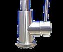 Высокий смеситель для кухни из нержавеющей стали на мойку HAIBA SUS 011-G (HB3895), фото 5