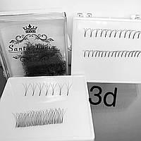 3D Пучковые ресницы для наращивания по 100 пучков