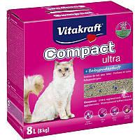 Наполнитель в кошачий туалет Vitakraft (Витакрафт) Compact Ultra Plus комкующийся (8 кг.)