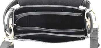 Женская сумка из иск-кожи Case 662 крокодил черная, фото 3