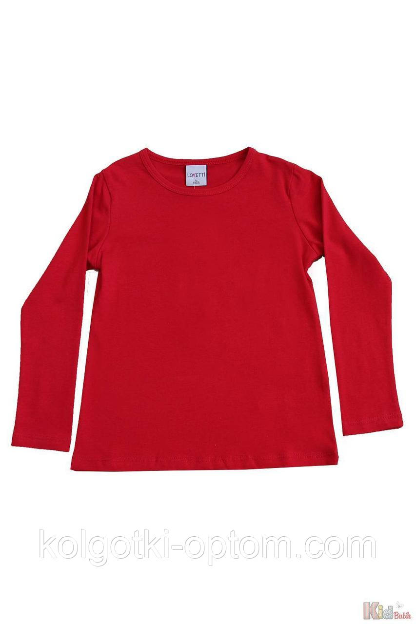 ОПТОМ Реглан красного цвета базовый для девочки (116 см.)  Lovetti 2125000684604