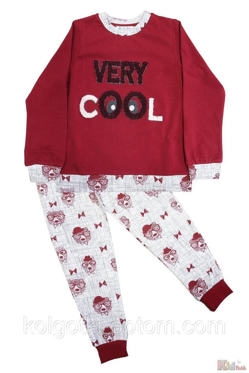 "ОПТОМ Пижама цвета бордо ""Honey Bear"" для мальчика (104 см.)  Pikidor 8681021256038"
