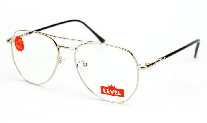Очки для компьютера Blue blocker, очки для работы за компьютером, тонкий металл сталь, авиатор, мужские, Level