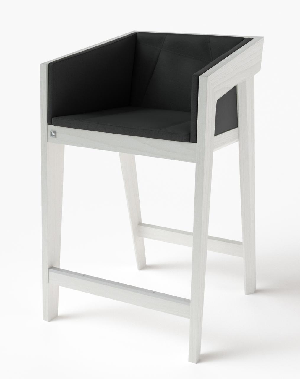 Полубарный стул Air 2 bar s 4 soft white ТМ Kint
