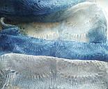 Палантин Голубая волна П-00095-2, оренбургский шарф-палантин, фото 4