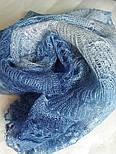 Палантин Голубая волна П-00095-2, оренбургский шарф-палантин, фото 5