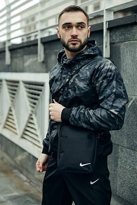 Спортивный костюм мужской Nike, Ветровка + Штаны + Барсетка в подарок, фото 2