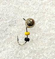 .Блешня вольфрамова Bravo Дробинка з вушком і бісером 2,2 g.