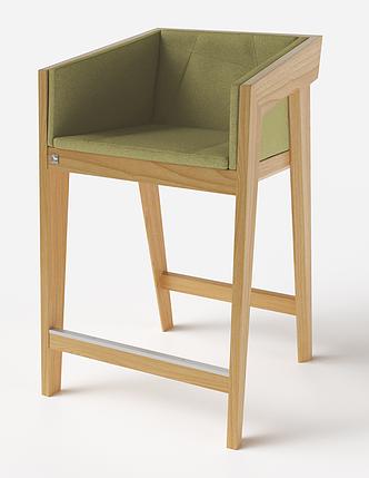 Полубарный стул Air 2 bar s 4 soft natural ТМ Kint, фото 2