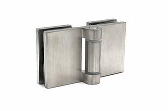 KLC-02-02-01 Петля для душевых кабин стекло-стекло 180 град матовая