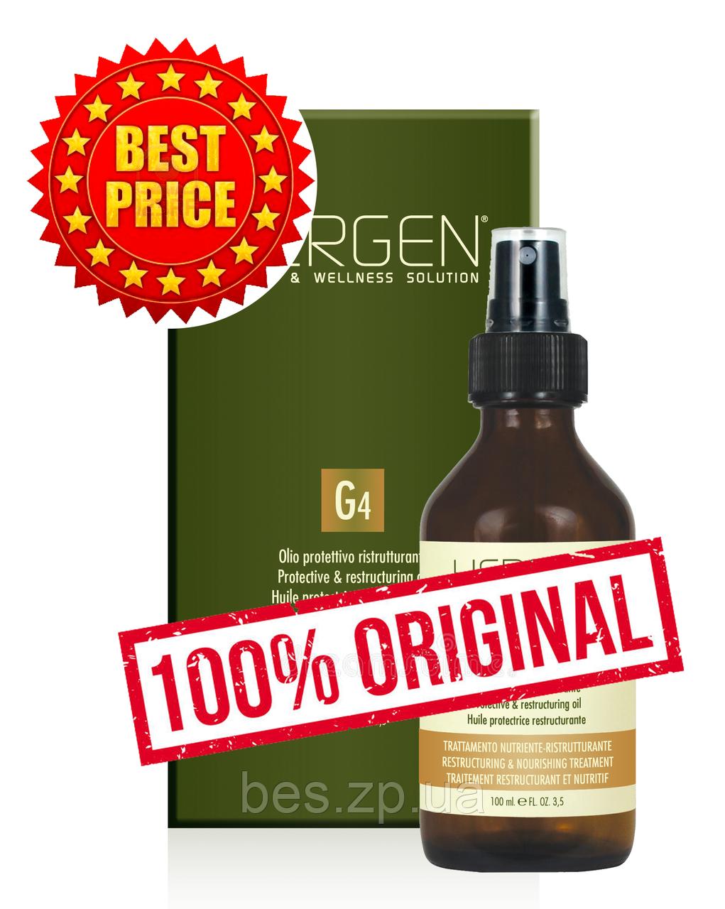 Масло для питания, восстановления и защиты ослабленных и сухих волос Hergen G4