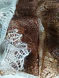 Палантин Капучино П-00095-3, оренбургский шарф-палантин, фото 4