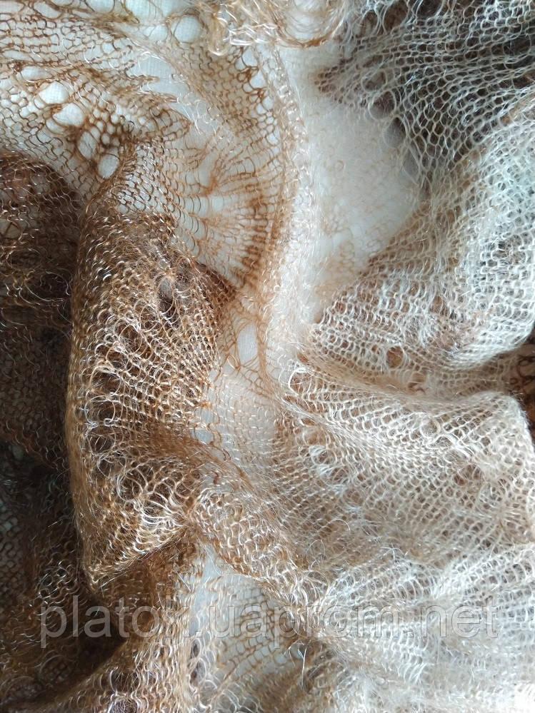 Палантин Зелена фісташка П-00095, салатово-зелений, оренбурзький шарф (палантин)