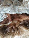 Палантин Зелена фісташка П-00095, салатово-зелений, оренбурзький шарф (палантин), фото 2