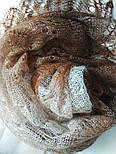 Палантин Капучино П-00095-3, оренбургский шарф-палантин, фото 5