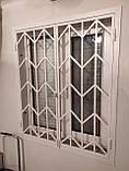 Решетка на окно металлическая распашная размер 2м*h2.12м, фото 5