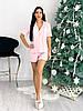 Женская трикотажная пижама с шортами и повязкой