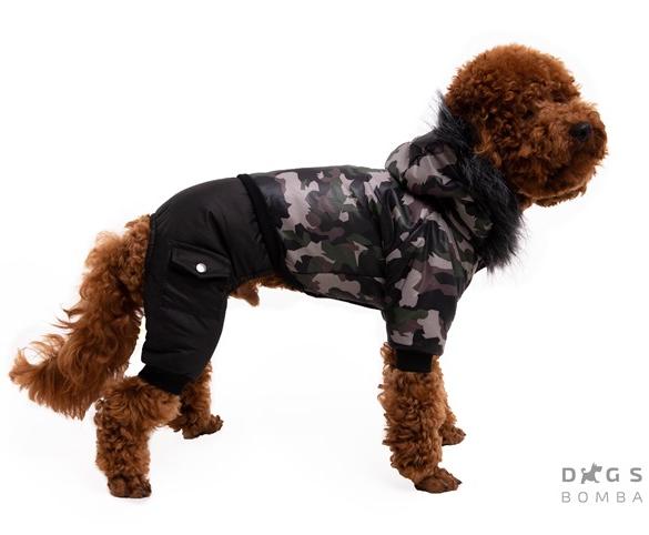 Зимний комбинезон камуфляж классика для собак DogsBomba