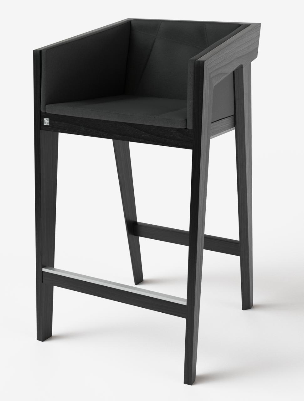 Барный стул Air 2 bar m 4 soft black ТМ Kint