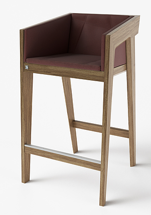 Барный стул Air 2 bar m 4 soft light brown ТМ Kint, фото 2