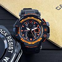 Часы наручные мужские спортивные Casio G-Shock Black-Orange