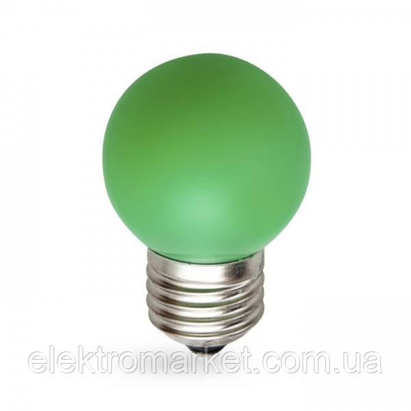 Світлодіодна лампа Feron LB-37 1W E27 зелена