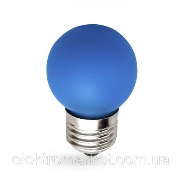 Светодиодная лампа Feron LB-37 1W E27 синяя