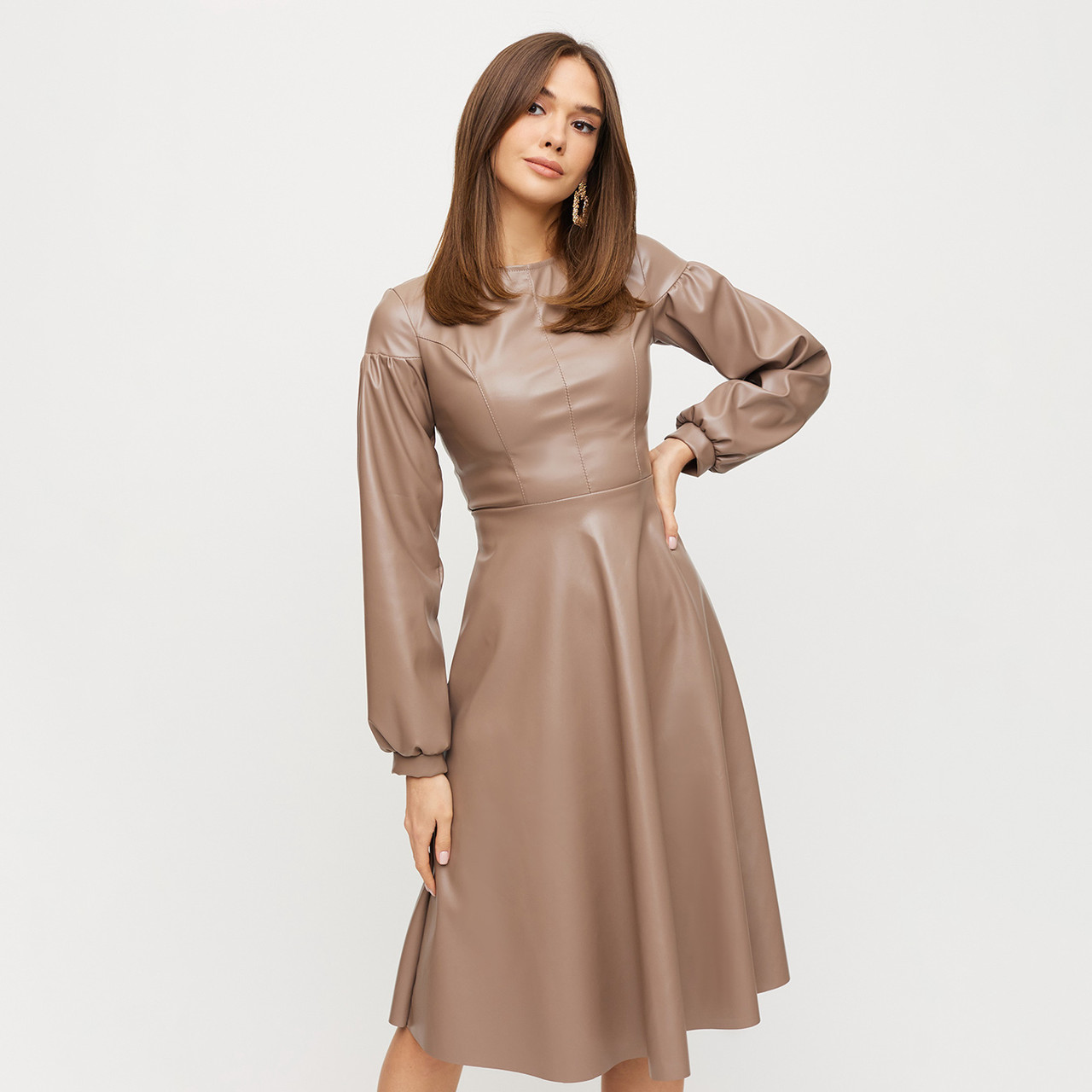 Облягаюче бірюзове вечірнє плаття міді з люрексу