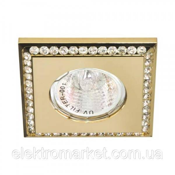Вбудований світильник Feron DL102-C прозорий золото