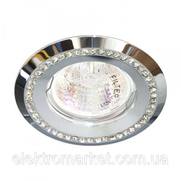 Вбудований світильник Feron DL103-C хром прозорий