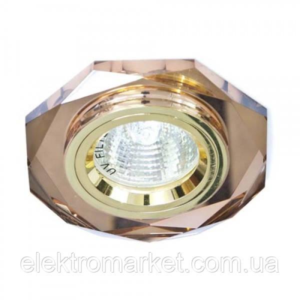 Вбудований світильник Feron 8020-2 золото коричневий
