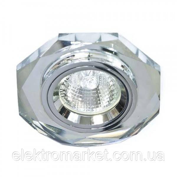 Встраиваемый светильник Feron 8020-2 серебро серебро