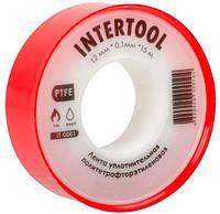 Лента тефлоновая Intertool - 15 м x 12 x 0,1 мм 10 шт. (IT-0001)