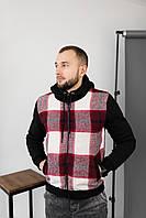 Мужская кофта с капюшоном, утепленная мехом.