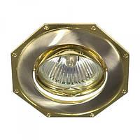 Вбудований світильник Feron 305Т MR-16 титан золото