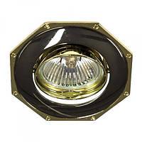 Вбудований світильник Feron 305Т MR-16 чорний золото