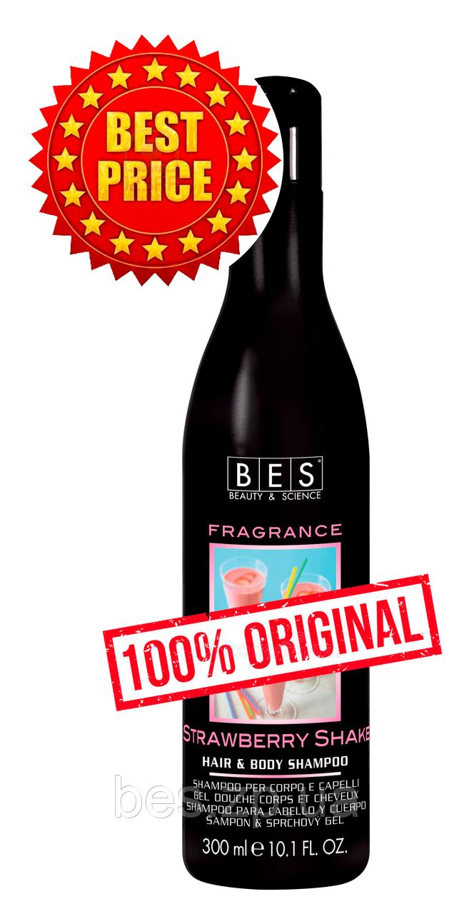 Полуничний шейк: шампунь – гель для душу для всіх типів волосся Fragrance 300 мл