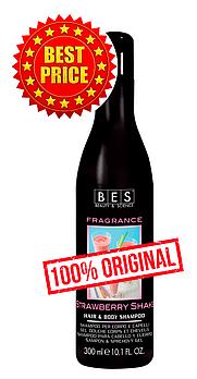 Клубничный шейк: шампунь – гель для душа для всех типов волос Fragrance 300 мл