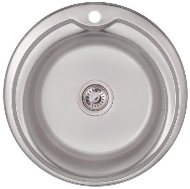 Кухонные мойки Lidz Кухонная мойка из нержавеющей стали Lidz 510-D 0.6 мм Satin