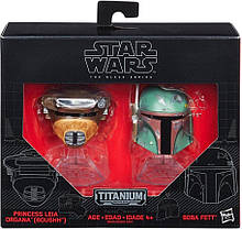 Мини-шлемы Боба Фетт и принцесса Лея Звездные войны - Star Wars, Black Series, Hasbro SKL14-143300