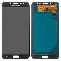 Модуль для Samsung Galaxy J7, Samsung J730 черный, дисплей + сенсор