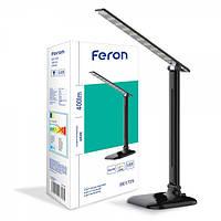 Настольный светодиодный светильник Feron DE1725 черный