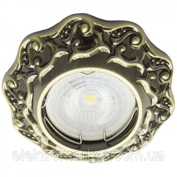 Вбудований світильник Feron DL6241 античне золото