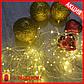 Гирлянда Медная Проволока Белая Теплая 10 метров! нежная Нить с светодиодами + Подарок!, фото 2